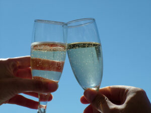 celebration picture of 2 champagne glasses