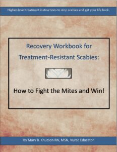 Cover page of recovery workbook for treatment resistant scabies